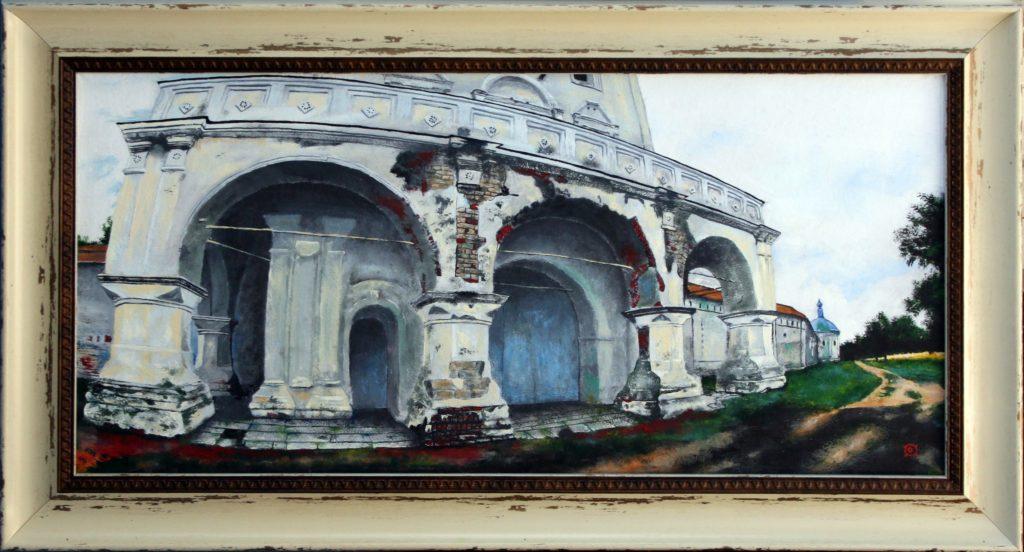 Свенский монастырь. Холст, мало 50×24см.