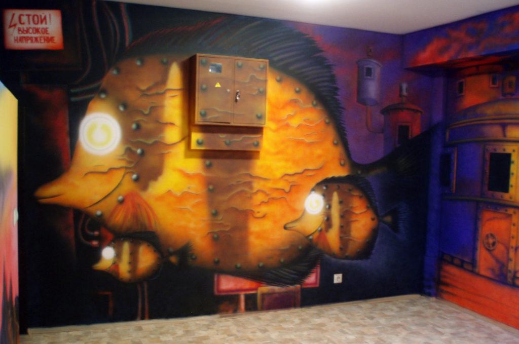 Художественная роспись стен, аэрография