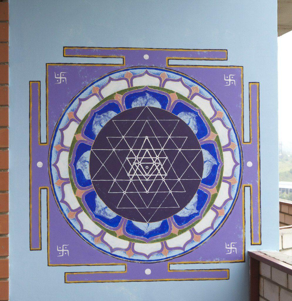 Шри Янтра. Художественная роспись стен